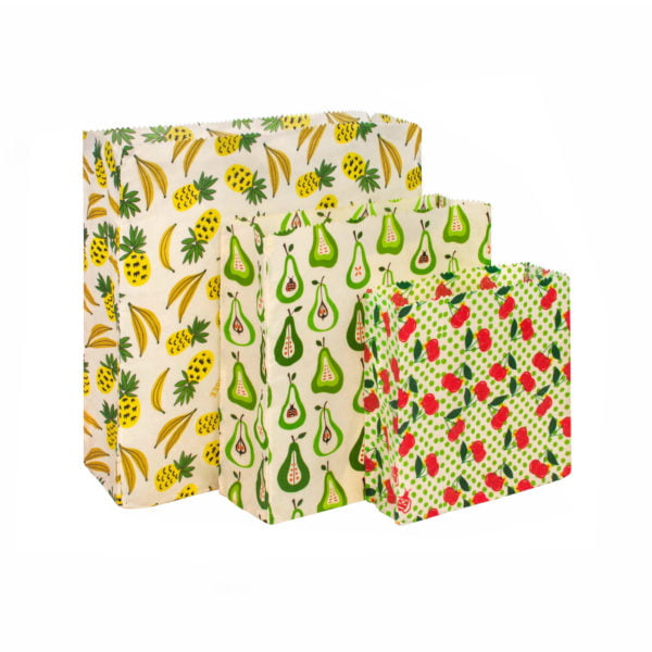 Waxed Food Bags Set - Fruit Punch