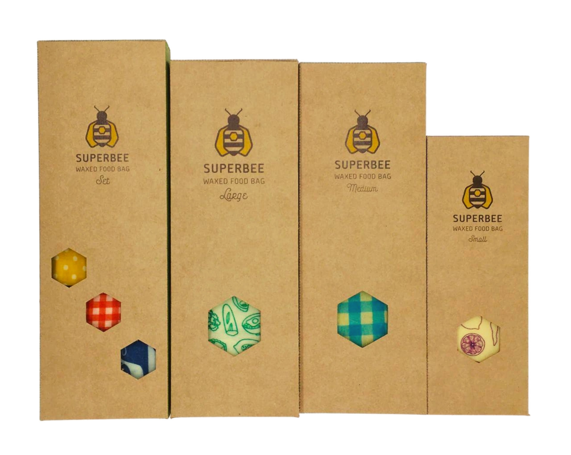 Waxed Food Bags in their retail ready packaging