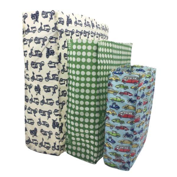 Waxed Food Bags various designs