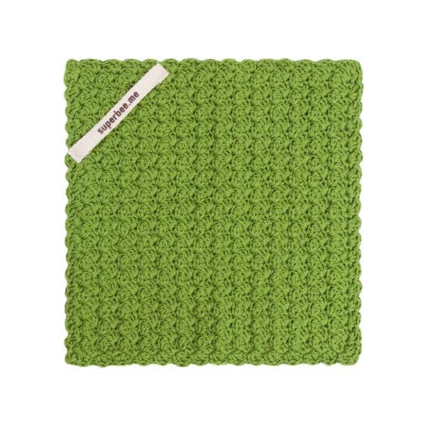 Green dishcloth colour 1